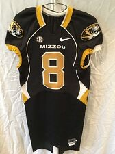 Game Worn Used Missouri Tigers Mizzou Football Jersey #8 Size 40 BONNER