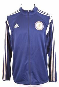 ADIDAS Mens CLHS Soccer Tracksuit Top Jacket XL Navy Blue Polyester IY07
