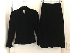 EUC Vintage Lilli Ann 1946 -1947 Black Velvet Suit XS