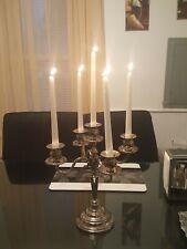Candelabra 5 Arm Silver Decorative Candle Holder  for Dinner Table Wedding Decor