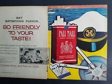 1958 Pall Mall cigarettes sailor cap nautical two page ad