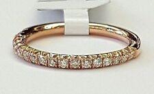 0.39ct Pavé Round Diamond in 14K Rose Gold Half Eternity Band - Size 6.5