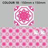 Tile Stickers Transfers Traditional Vintage150mm x 150mm Kitchen Custom Sizes T3