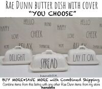 "Rae Dunn Butter Dish BUTTER SPREAD DELIGHT SMEAR ""YOU CHOOSE"" HTF NEW '19-20"