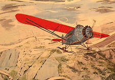 """Winter Flying, by Steve Hillyer-AK Aviation History Series """"A"""" No. 9 Lithograph"""