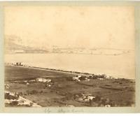Algérie, Plage de Mustapha  Vintage albumen print.  Tirage albuminé  20x25