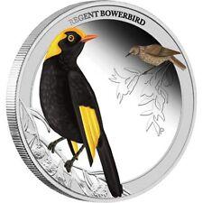 2013 Birds of Australia Regent Bowerbird -1/2oz Coloured Silver Proof Perth Mint
