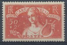 N°308 50c+2f. rouge-brique NEUF** CALVES C.135€ RR A126
