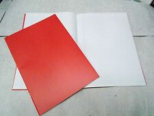 50 x Exercise Books 64 Pages A4 6mm Ruled & Margin Red EX677315-5