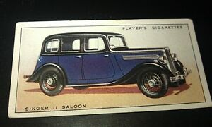 1936 SINGER 11    SALOON  -     Orig Cigarette Card UK