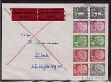 Bund, H-Blatt 8 Y II, Brief, portogerecht, geprüft, Heuss (20954)