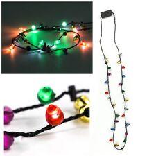 LED Jingle Bell illuminare Collana di Natale Festa Lampadina adulti o bambini regalo di Natale