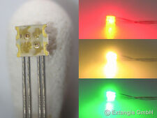 30x SMD LED 0605 RGY  ROT GRÜN GELB +Microlitze red green yellow rood groen geel