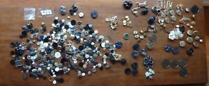 Mixed Bag of vintage buttons-1 pound 14 ounces-Gold Metal Military Style ++
