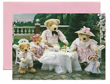 "VANDERBEAR ""HIGH TEA"" - Featuring Whole Family -  Pack of 5 Notecards Circa 1984"