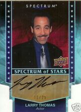 2008 UD Spectrum STAR SIGNATURES  LARRY THOMAS Actor( No Soup For You)