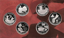 2009 SILVER 50 State Quarters - Dcam Proofs With Box & Authenticity Certificate