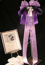 Pew End Bows Wedding Flowers Church Personalized or Plain All Colours
