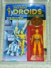 Vintage Star Wars 1985 C-3PO AFA 85/80/90 RARE CANADIAN DROIDS Card back MOC UNP
