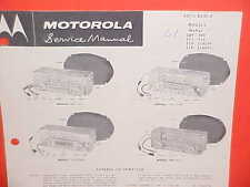 1961 PLYMOUTH FURY SAVOY VALIANT DODGE LANCER MOTOROLA AM RADIO SERVICE MANUAL