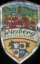 Wirsberg Fichtelgebirge usedhiking medallion stocknagel shield badge mount G1463