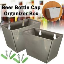 New listing 2pcs Wall Mount Stainless Bar Clud Beer Bottle Opener Cap Box Screw Home Us Us