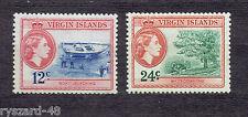British  Virgin Islands 1956  -  Mi 118/9 *  Themes region