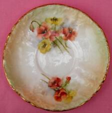 Nautilus Porcelaine POPPY PAVOT soucoupe possil poterie peint à la main