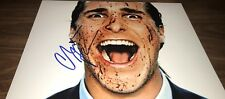 Christian Bale American Psycho Signed 11x14 Crazy Close Up Photo COA Proof 14