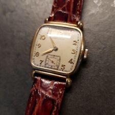 1940s Vintage Deco Hamilton Gold Filled Wristwatch Judson Mod. Orologio da polso