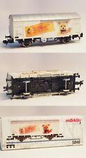 🚂NIB RARE 1990 Märklin 5846 German Railways 'Steiff-Knopf-im-Ohr' Boxcar🚂
