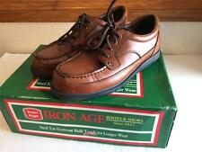 Men Iron Age Steel Toe Safety Shoes Brown With Box Size 7 Medium