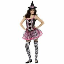 Spelladonna Witch Striped Cute Dress Up Halloween Teen Adult Costume - Size 4-10