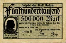 Germany 500.000 Mark 1923 Bochum 272721