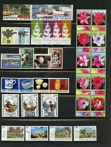 Norfolk Island #818//852 (NO005) (8) complete sets, MNH, VF