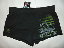 MLS SOCCER Seattle Sounders Adidas Black Short Shorts Sz Small Women Ladies NEW