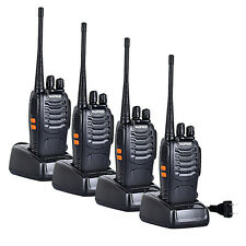 4 x Baofeng/Pofung BF-888s UHF 400-470MHz 5W Scramble Two-way Ham Radio