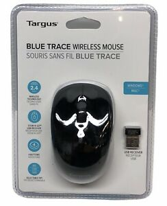 NEW Targus Wireless Blue Trace Mouse - AMW50US Black