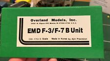 Overland Models Brass S Scale Unpainted EMD F3/F7 B unit OMI-1751