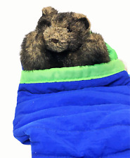 RARE Folkmanis Baby Bear Cub in Sleeping Bag Hand Puppet Plush Stuffed Animal