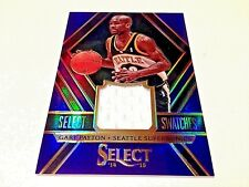 Gary payton 2015 Panini Select swatches Purple refractor Game worn Jersey #/99