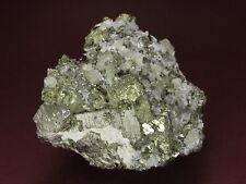 Apatite Crystal Cluster on Chalcopyrite & Pyrite, Huanzala Mine! PERU
