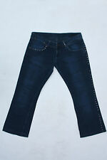 ICE JEANS ICEBERG ITALY VTG JEANS BLUE DENIM BOOTCUT W34 Uk16 TIN-TACKS FANTASY