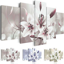 Canvas Print Flowers Framed Wall Art Picture Photo Image b-C-0041-b-n