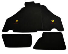Floor Mats For Ferrari F430 2004-2009 Black Tailored Carpets With Ferrari Emblem