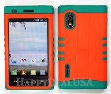 Hybrid Silicone Cover Case for LG Optimus Extreme L40g / L5 - Orange (FL)