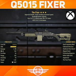 Quad 50 Vats Hits chance , 15 vats fill Fixer - Q/50/15 Fixer - Fallout76 [XBOX]