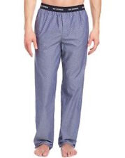 NEW MENS BEN SHERMAN MINI PRINT BLUE WOVEN COTTON SLEEP LOUNGE PANTS XL XLARGE