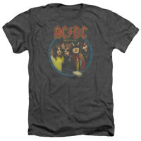 ACDC AC-DC Rock Band HIGHWAY TO HELL Album Distressed Heather T-Shirt All Sizes