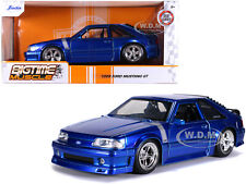 1989 FORD MUSTANG GT 5.0 CANDY BLUE 1/24 DIECAST MODEL CAR BY JADA 31863